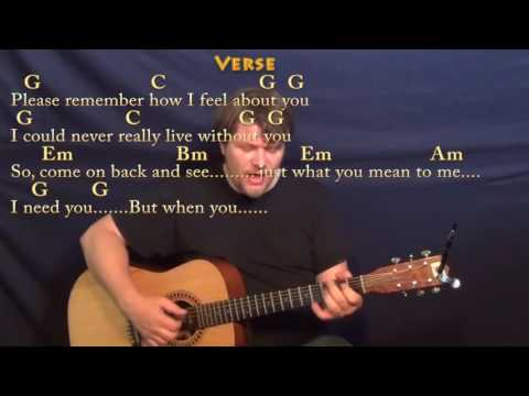 I Need You (Beatles) Fingerstyle Guitar Cover Lesson in G with Chords/Lyrics