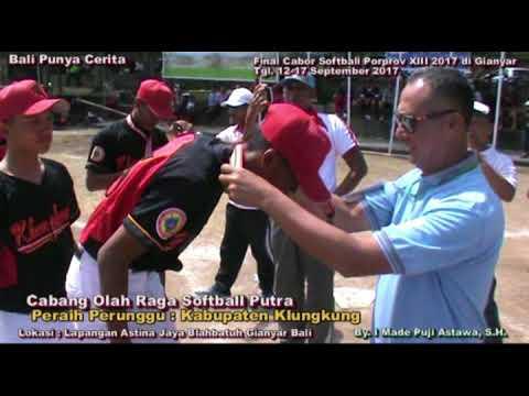 Final Softball Badung VS Denpasar (Putra), Badung VS Klungkung (Putri) Porprov Bali XIII 2017 Seru..