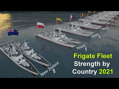 Frigate Fleet Strength by Country 2021   Country comparisons in 3d by  Frigate Strength