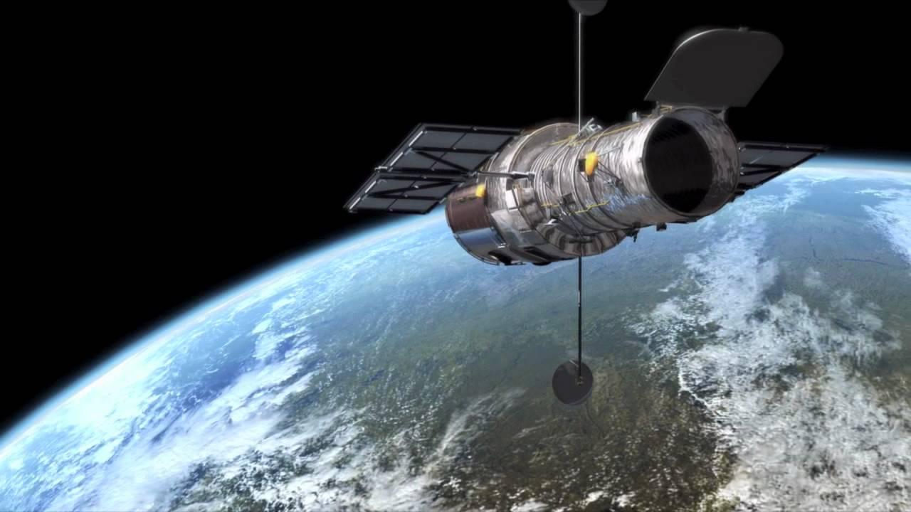 Hubble Telescope in Viewing Mode Above Earth   NASA ESA ...