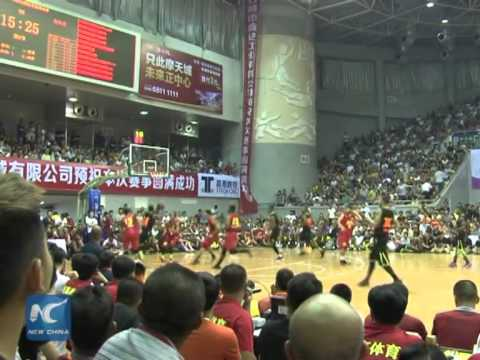 Former NBA stars play for rural Chinese