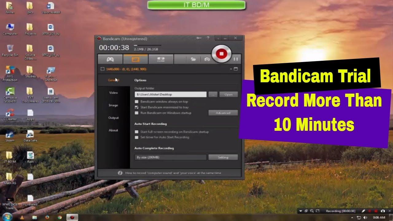 bandicam trial version