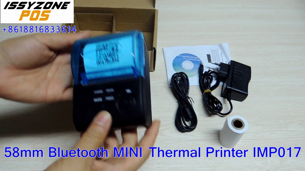 58mm Bluetooth Thermal Printer Portable printer how to connect with  Androind/IOS IMP017