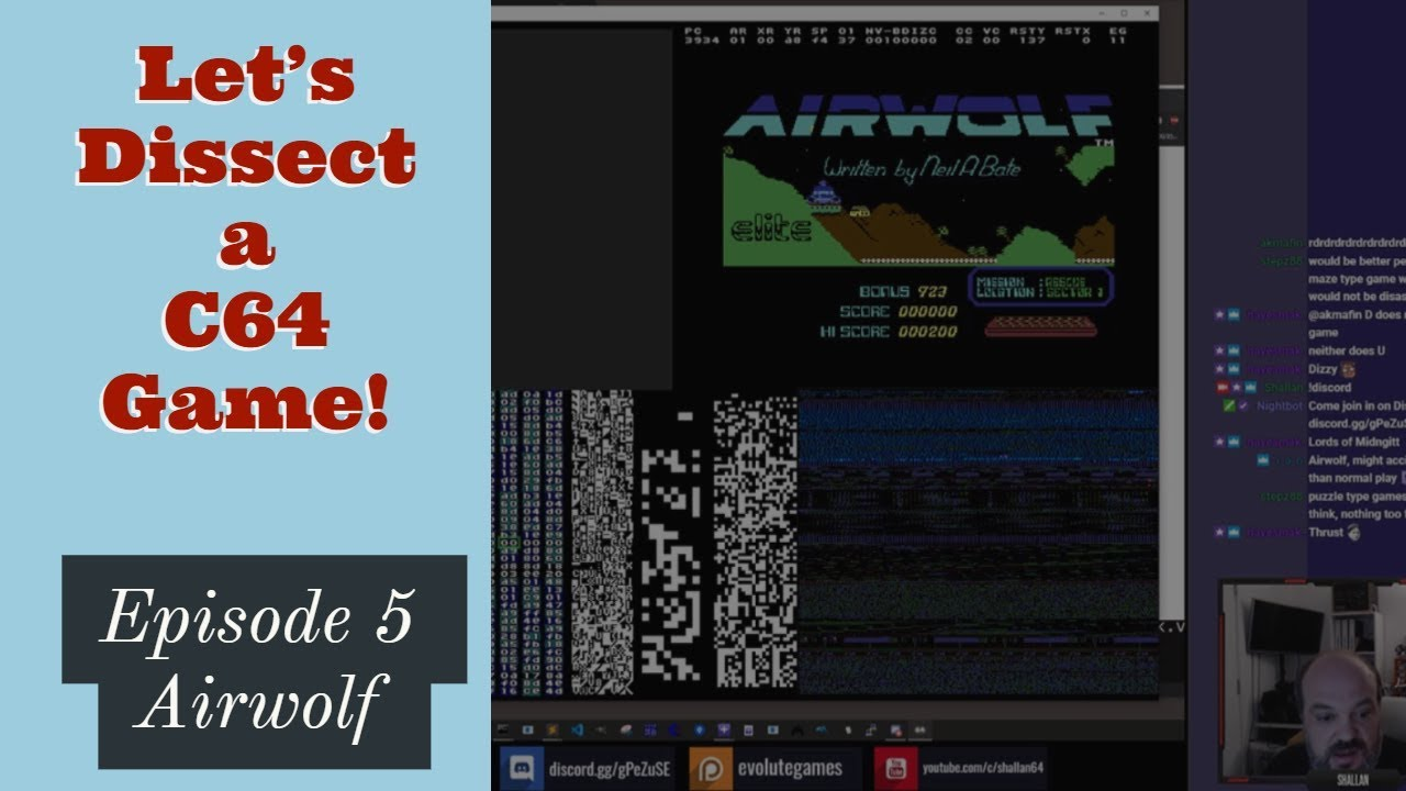 Download Lets Dissect a Commodore 64 Game! - Episode 5 - Airwolf - 8/8/2019