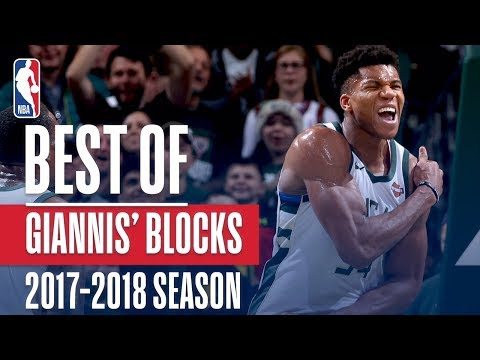 Giannis Antetokounmpo's Best Blocks of the 2017-2018 NBA Regular Season