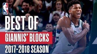 Giannis Antetokounmpo's Best Blocks of the 2017-2018 NBA Regular Season