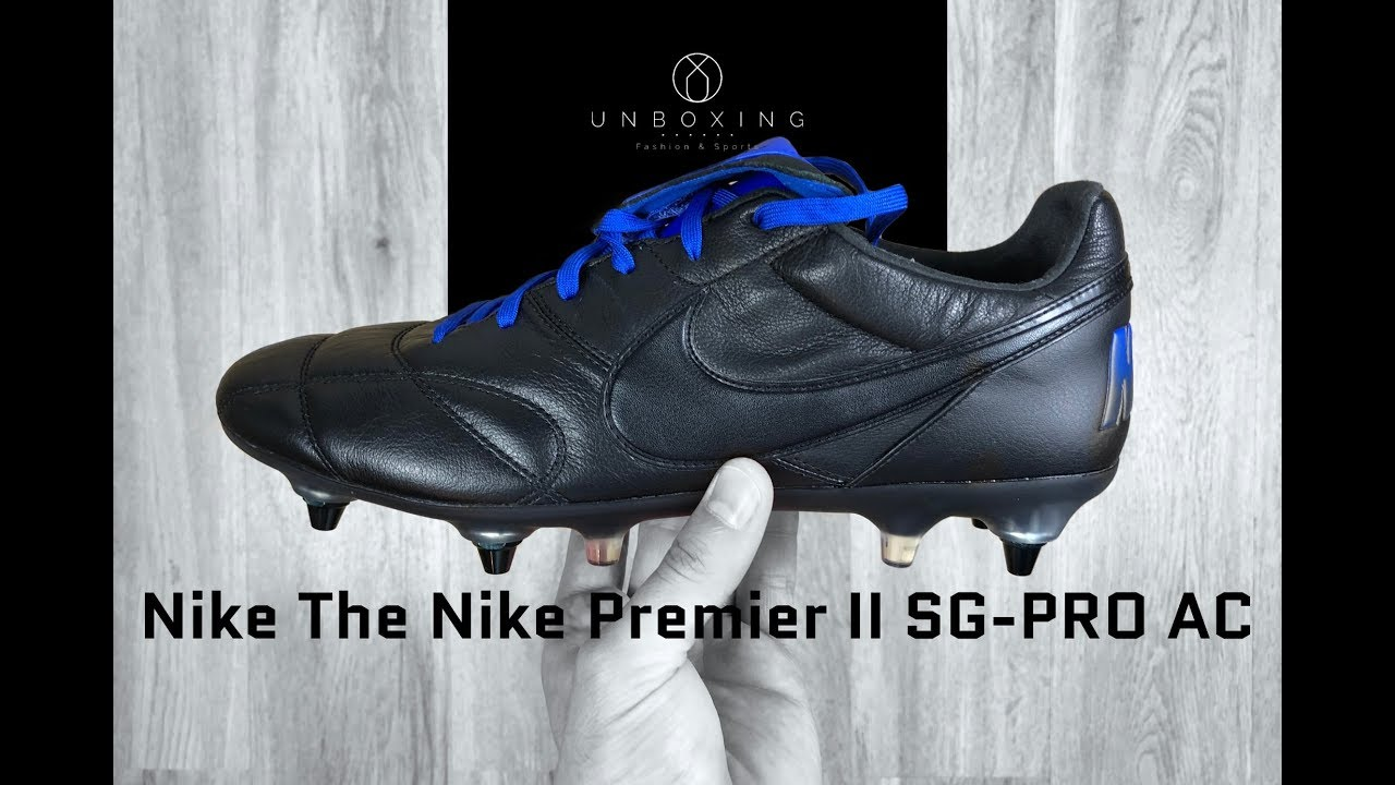 a23c8a509 Nike The Nike Premier II SG-PRO AC 'Black/Black-Racer Blue' | UNBOXING |  football shoes | 2018