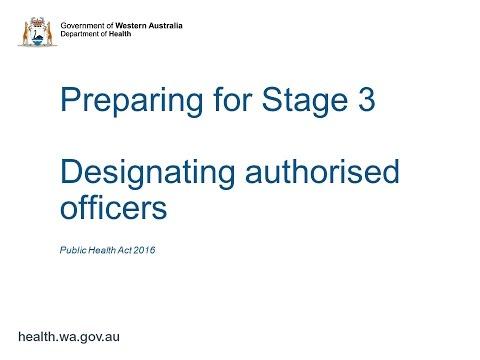 Designating authorised officers