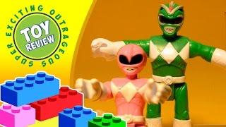 imaginext power rangers green ranger pink ranger and putty patrol pack