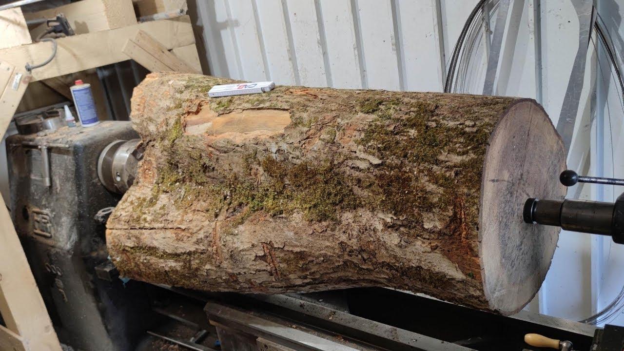 Woodturning - 278 KG Log to XXL Vase