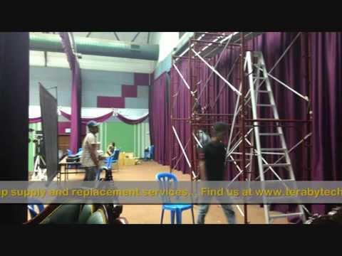 motorized projector screen installation youtube