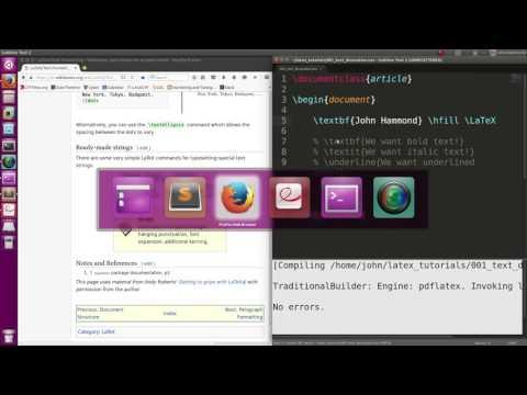 LaTeX 01: Text Formatting