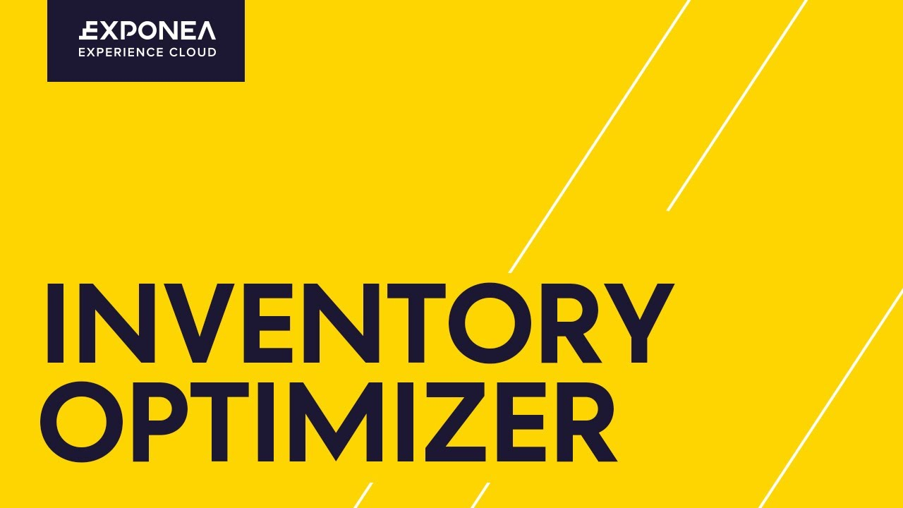 E-Commerce Inventory Management Software: Inventory Optimizer | Exponea
