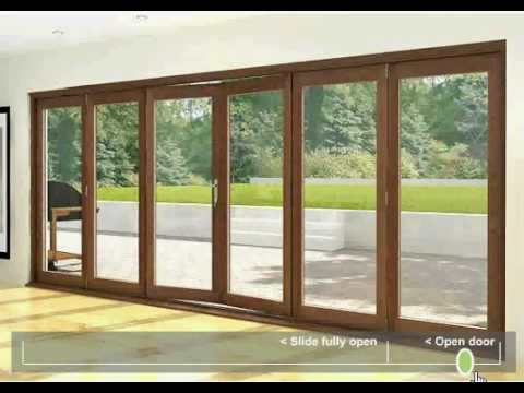 Folding Sliding Doors - Hardwood 6 door & Folding Sliding Doors - Hardwood 6 door - YouTube