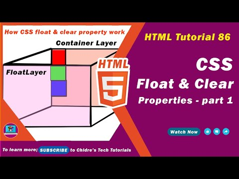 HTML Video Turorial - 86 - Css Float Property In Depth - Part 1