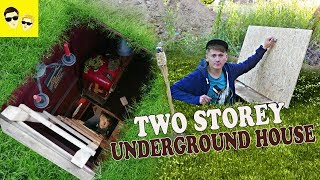 TWO STOREY UNDERGROUND HOUSE - How to build a house under the ground