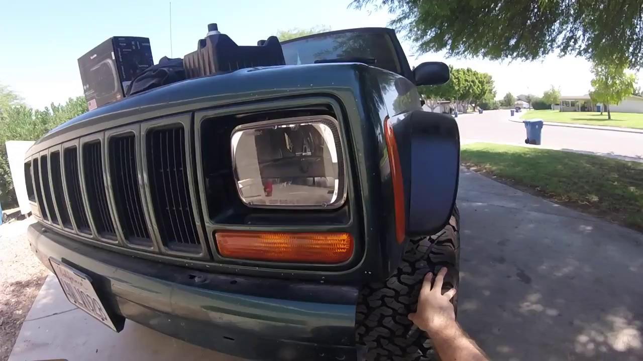 2001 jeep cherokee headlight replacement trucklite leds [ 1280 x 720 Pixel ]
