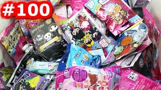 Random Blind Bag Box Episode #100 - Tsum Tsum, Shopkins, Harry Potter, Charm U, ElectroKidEEZ