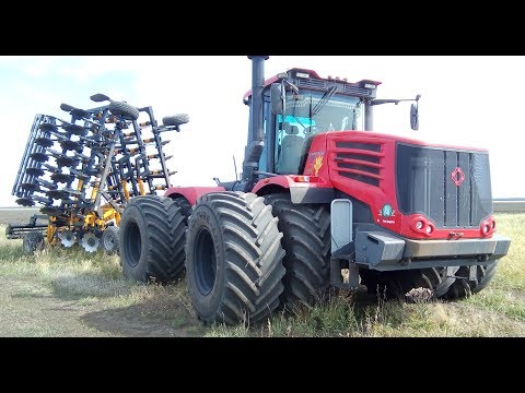 Трактор к744р4  Дискатор 8 на 4 ЧКЗ Агро.  Работа в поле!  (Сезон 2019)