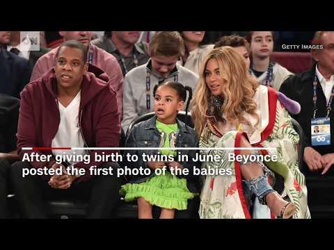 Beyoncé posts first photo of twins