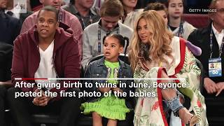 Beyoncé posts first photo of twins