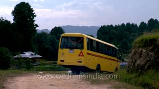 From school to home: School bus ride in Ziro