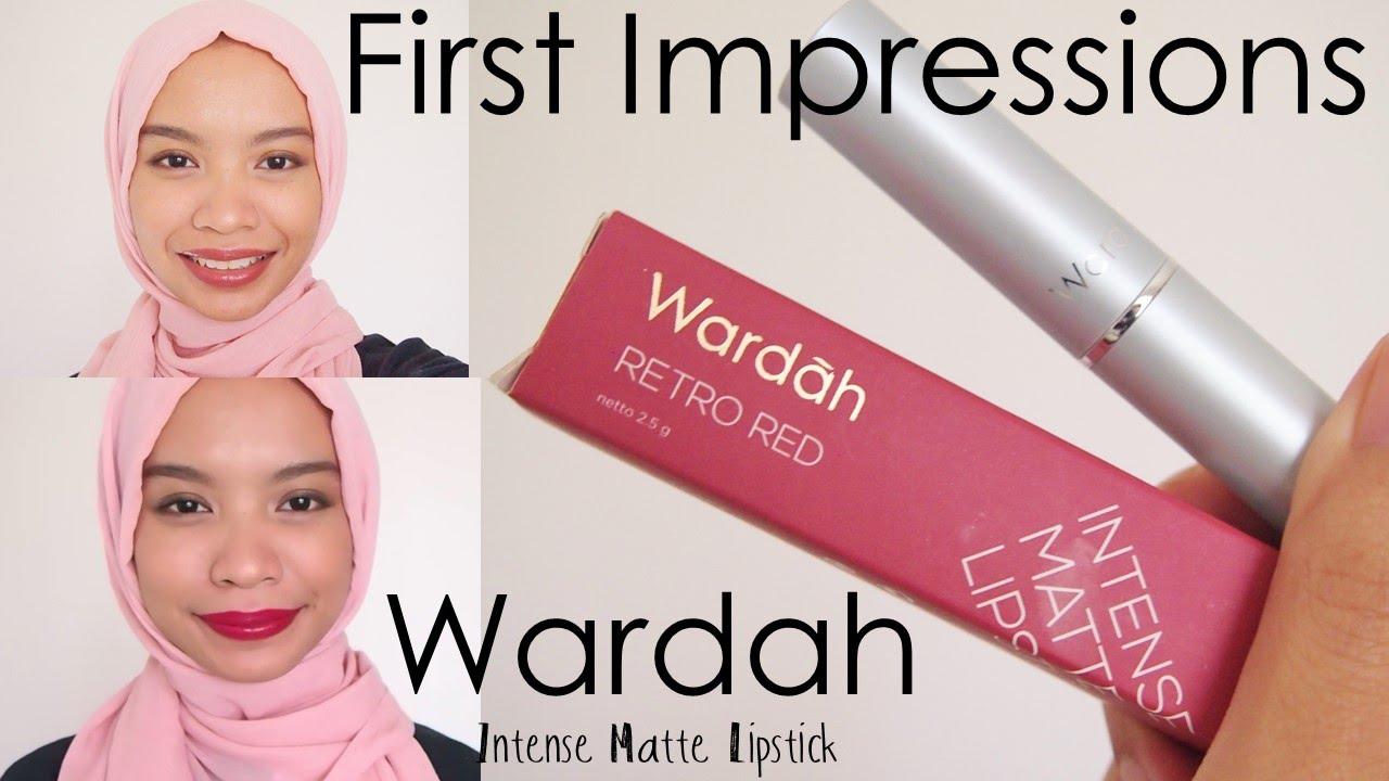 First Impressions! WARDAH INTENSE MATTE LIPSTICK | #