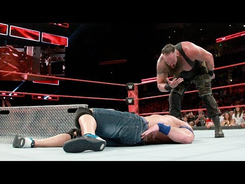 Relive Braun Strowman's utter destruction of Brock Lesnar and John Cena on Raw: Sept. 13, 2017