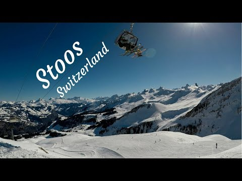 Skiing at beautiful Stoos, Switzerland