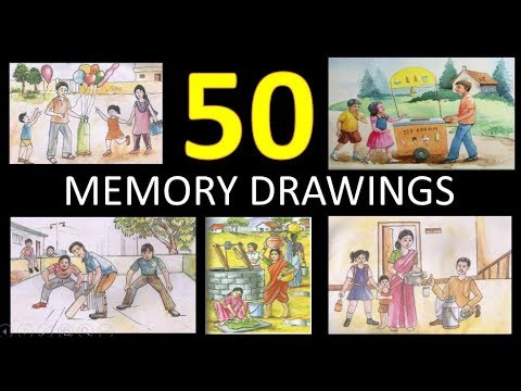Memory Drawings - collection of 50 memory drawing for Elementary &  Intermediate Grade Exam