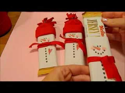 Snowman Chocolate Bars - YouTube