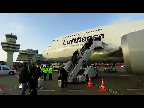 TRIP REPORT | Lufthansa 747-400 (ECONOMY) | Berlin Tegel to Frankfurt | Domestic Experience!