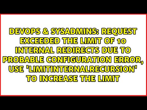 Request exceeded the limit of 10 internal redirects due to probable configuration error. WordPress