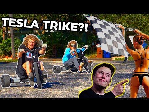 Tesla Made A DRIFT TRIKE!?! (Not Clickbait)
