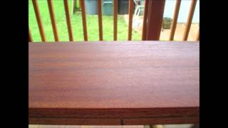 Sanding out factory defects in the Cumaru deck boards from Advantage Lumber (June 2012)
