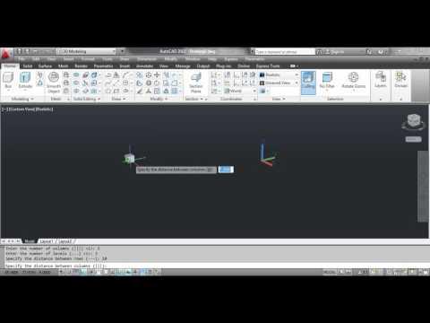 The 3D ARRAY Command - AutoCAD