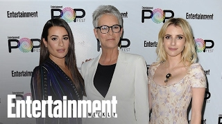 Scream Queens: Lea Michele, Emma Roberts On Jamie Lee Curtis & More | PopFest | Entertainment Weekly