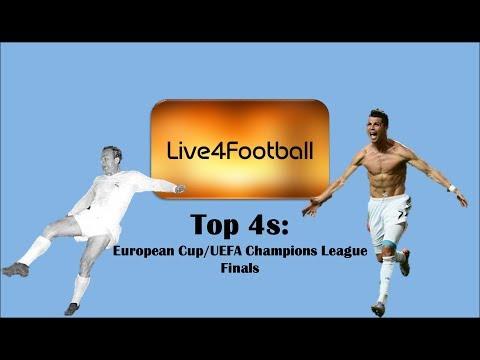 Top 4s: European Cup/UEFA Champions League Finals