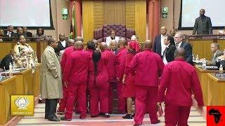 WOW - EFF Threatens Pravin Gordhan In Parliament