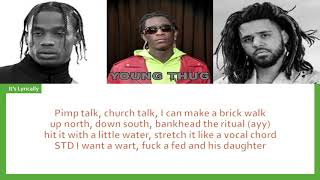 Young Thug - The London ft. J. Cole & Travis Scott ( LYRICS/ COLOR)