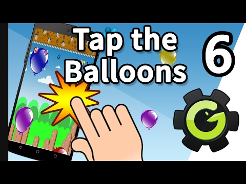 Game Maker Tutorial - Develop a Tap the Balloons Game (Sound/Pause) #6