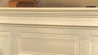 "Phoenix 23"" White Electric Fireplace Cabinet Corner Mantel Package"