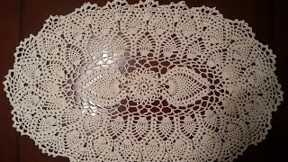 Oval Pineapple Doily Part 1