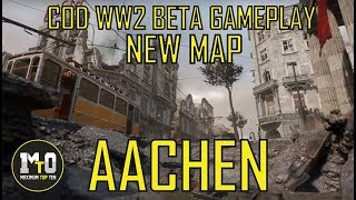 CALL OF DUTY WW2 BETA 2 NEW MAP AACHEN DOMINATION GAMEPLAY PS4  NO COMMENTARY