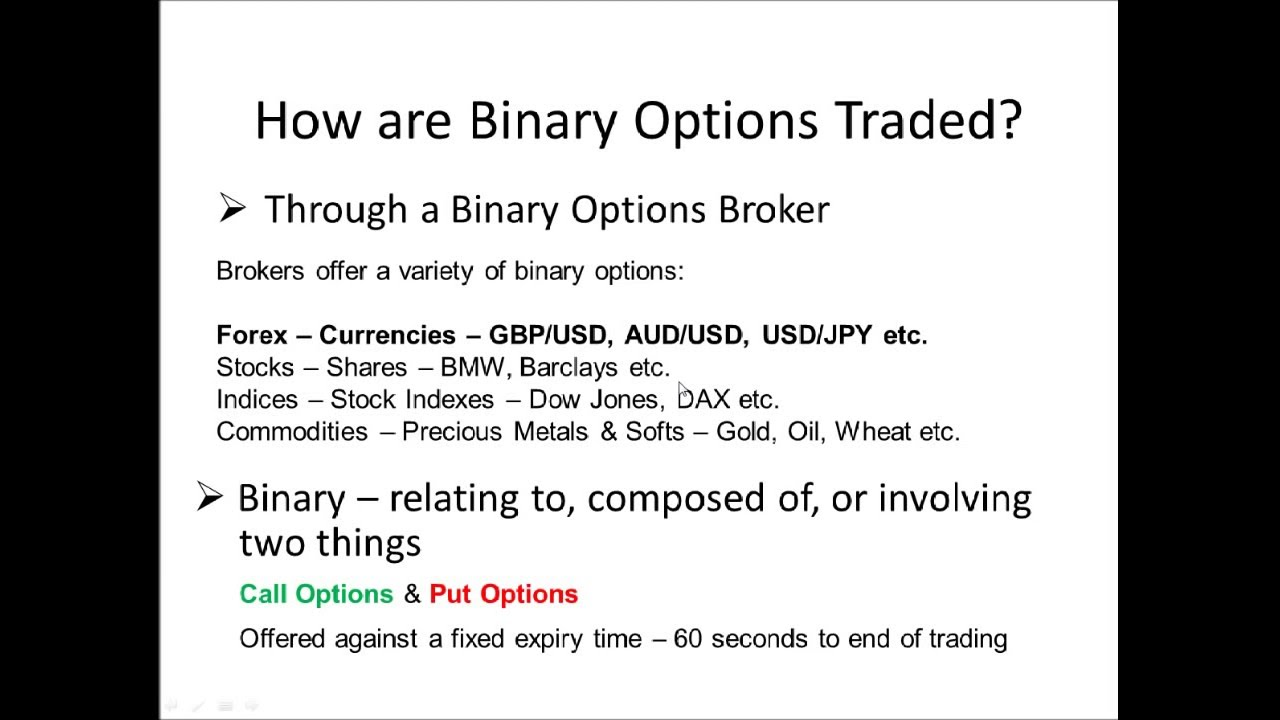 Binary options writer