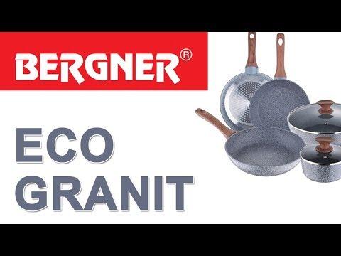 Сковороды Bergner серии Granit Eco с каменным покрытием