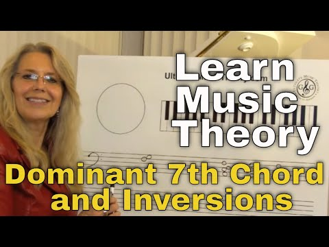LEARN MUSIC THEORY How to write a Dominant 7th Chord and inversions