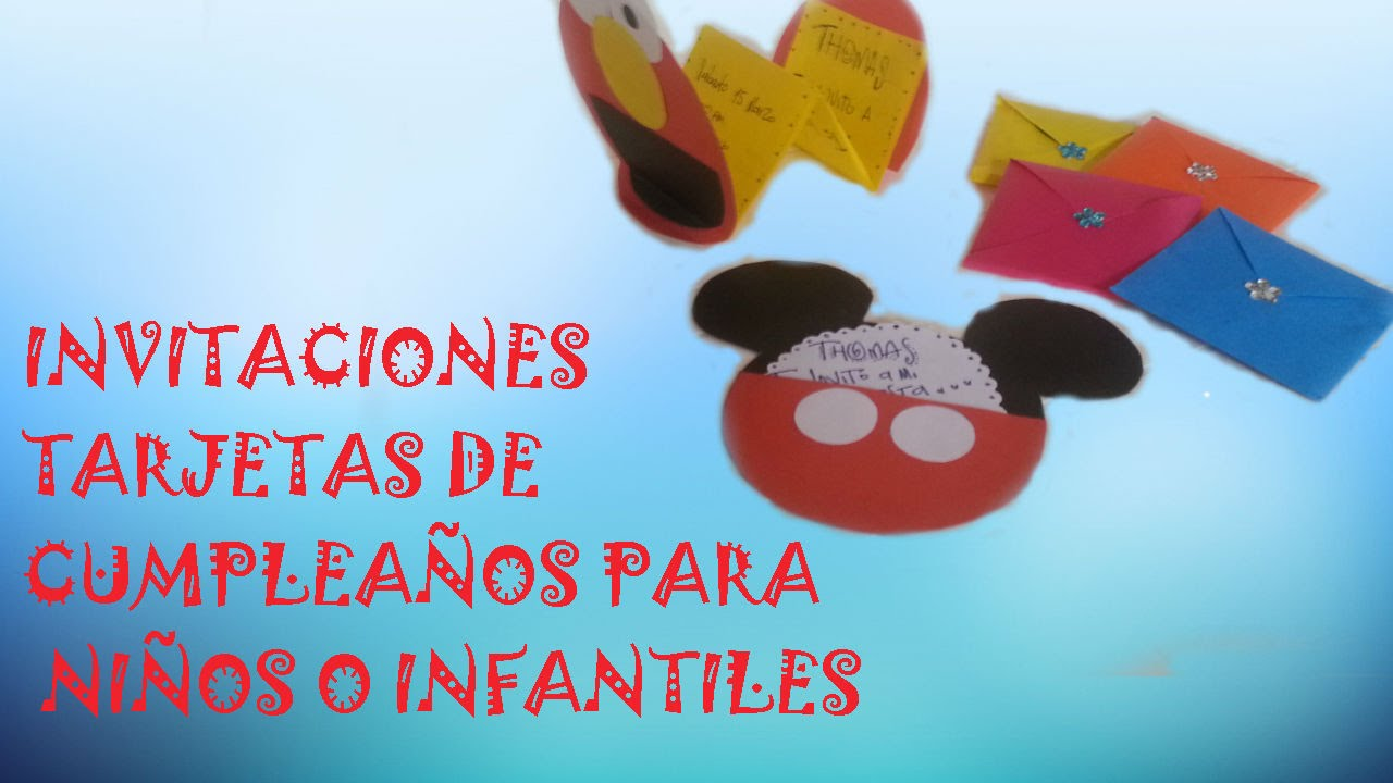 Invitaciones Tarjetas De Cumpleaños Para Niños O Infantiles
