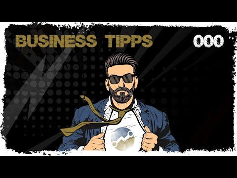 business tipps #000 - Trailer/Erstes Video zur Eröffnung des Unterkanals