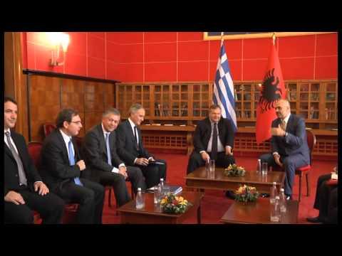 Kryeministri Edi Rama pret Ministrin e Punëve të Jashtme të Greqisë Venizelos